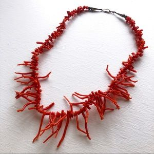 Authentic Vintage Red Coral Necklace